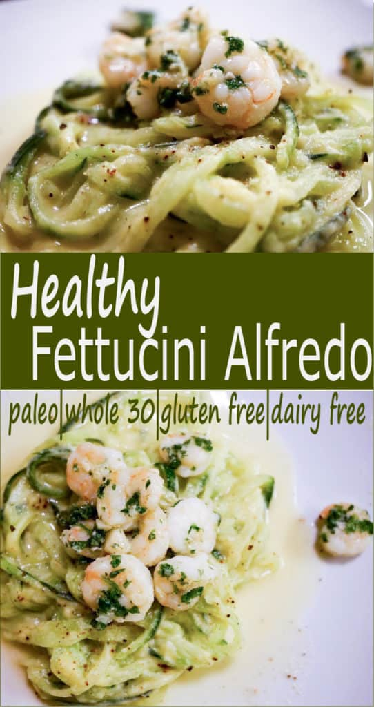 "A healthy twist on a favorite: ""Fettucini alfredo"" ala cukes and cauli recipe uses nourishing bone broth & veggies for gluten free, dairy free pasta dinner"