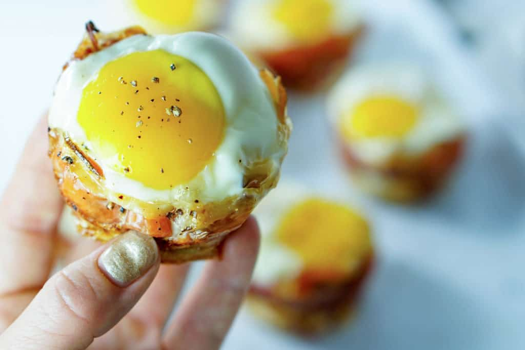 Try this Prosciutto Sweet Potato Breakfast Nests recipe for a quick on-the-go breakfast that leaves you feeling full and energized all morning long!