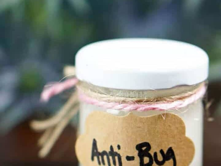 jar of natural bug repellent