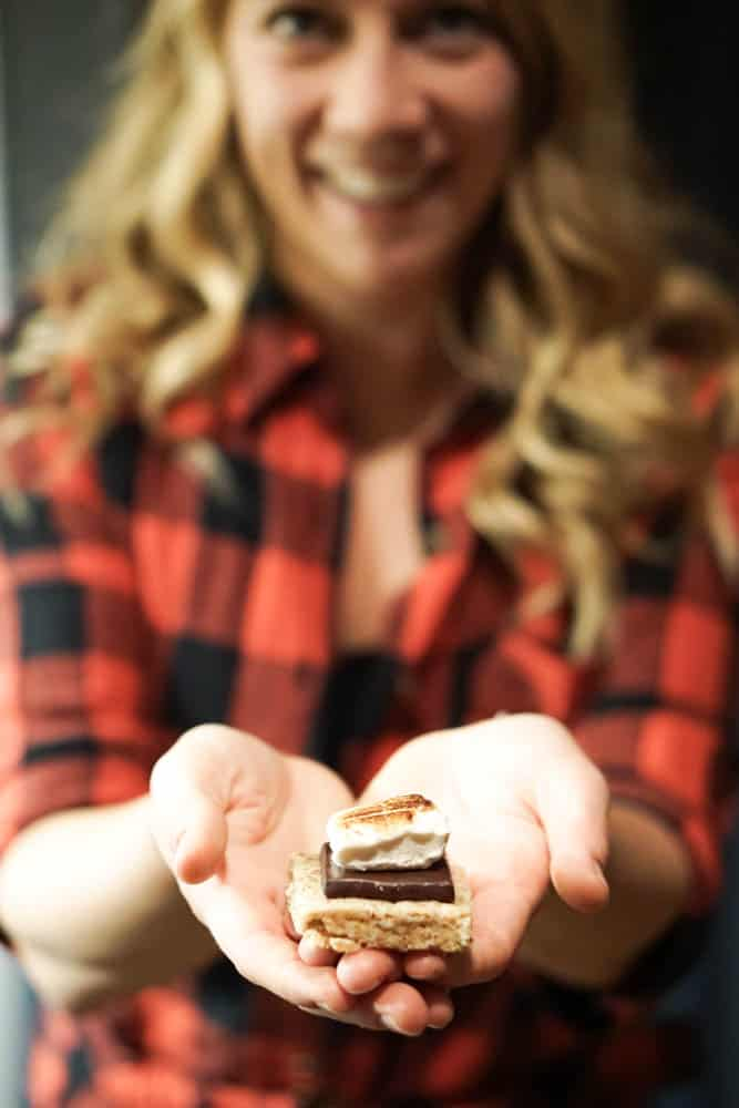 This Clean Indoor S'Mores recipe can be made ahead of time and your guests will never know it's low sugar and completely dairy, grain, and gluten free.