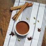 Pumpkin Pie spice mix on table with spices