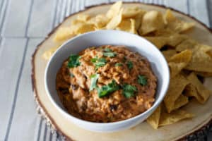 a surprisingly creamy though dairy free and protein rich dip for game day