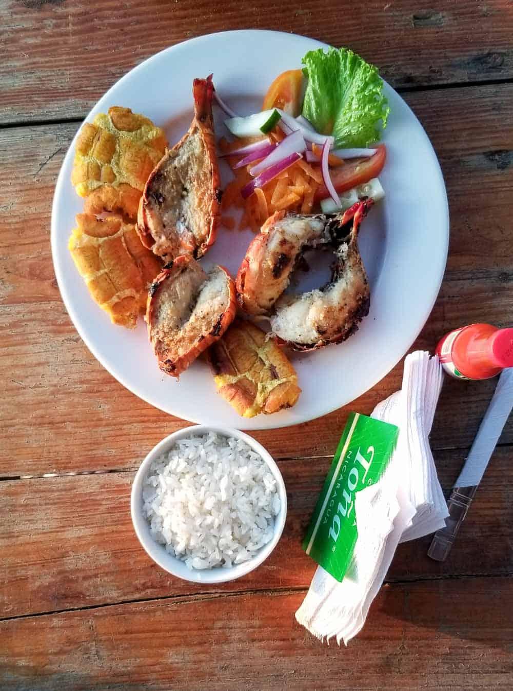 Beach Side Lobster on Playa Marcella Nicaragua