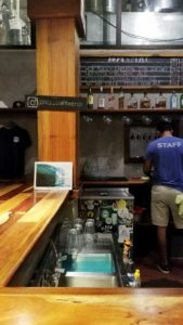 The San Juan del Sur cerveceria is a modern yet chill place for good local craft beers, wine, cocktails and tacos