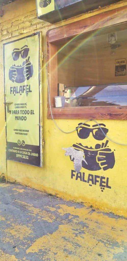 You can even get Falafel at this restaurant in San Juan del Sur