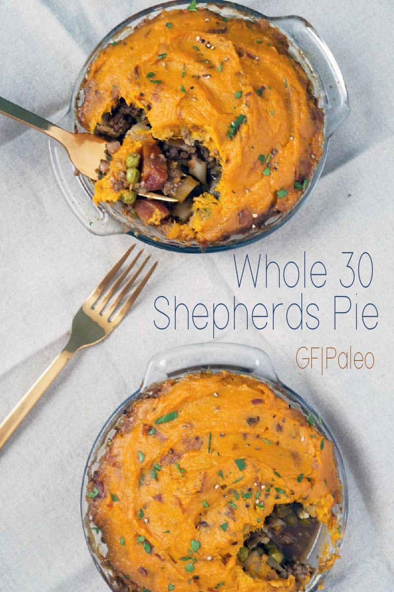 This whole 30 shepherds pie is paleo friendly and full of real food and flavor. Celery, cauliflower, peas, carrots, tamarind, and broth naturally flavor a healthy and balanced meal