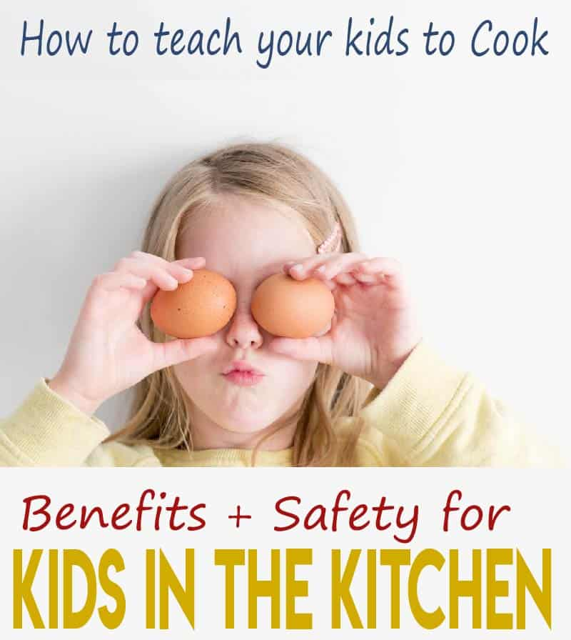 Getting kids in the kitchen and teaching them to cook real foods is the best way to create healthy habits, grow healthy adults, and foster independence. See this guide on the benefits and safety precautions when teaching your kids to cook.