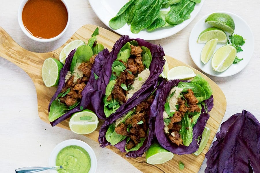 Taking tacos to the next level, these heritage chorizo cabbage tacos are savory and fresh with just enough spice. Who said tacos couldn't be clean?