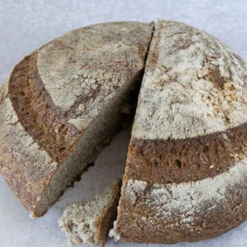Gluten Free Sourdough Boule missing piece