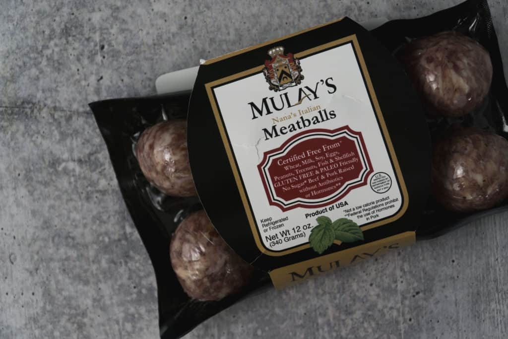 Mulay's sausage package on poured concrete surface