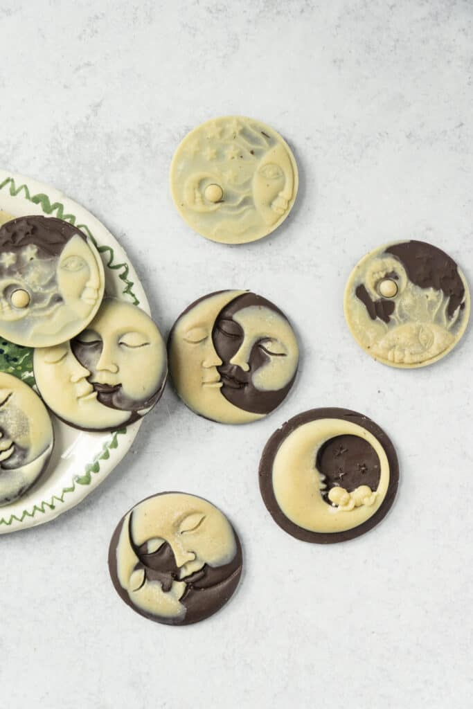 White and Dark Chocolate Sun and Moon Molds