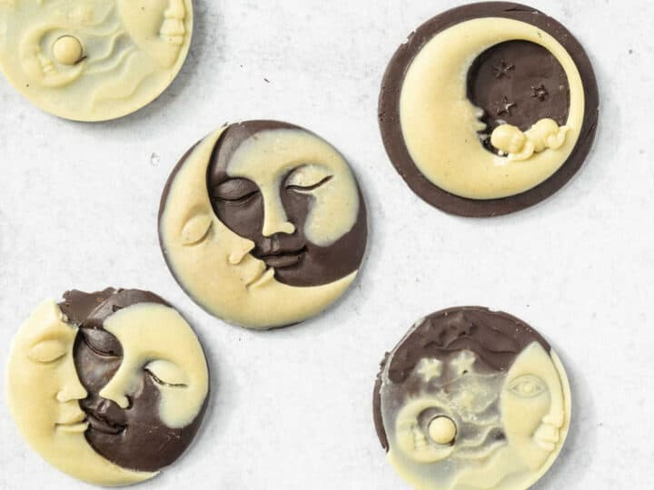 Dark and White Chocolate moons and suns