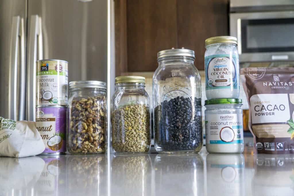 Pantry Staples: Beans, coconut oil and cream
