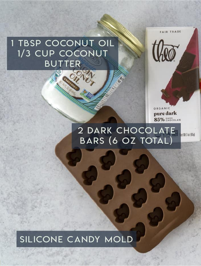Chocolate Coconut Butter Cup Ingredients