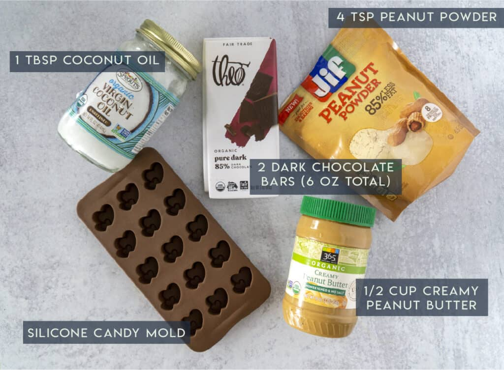 Chocolate Peanut Butter Cup Ingredients