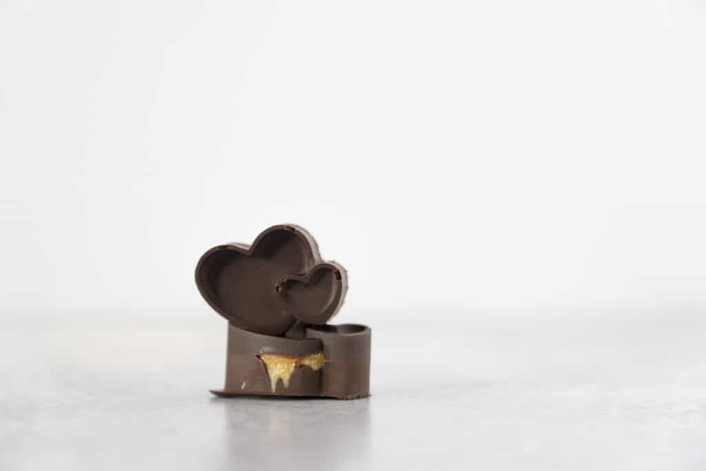 Chocolate Peanut Butter Cup Hearts