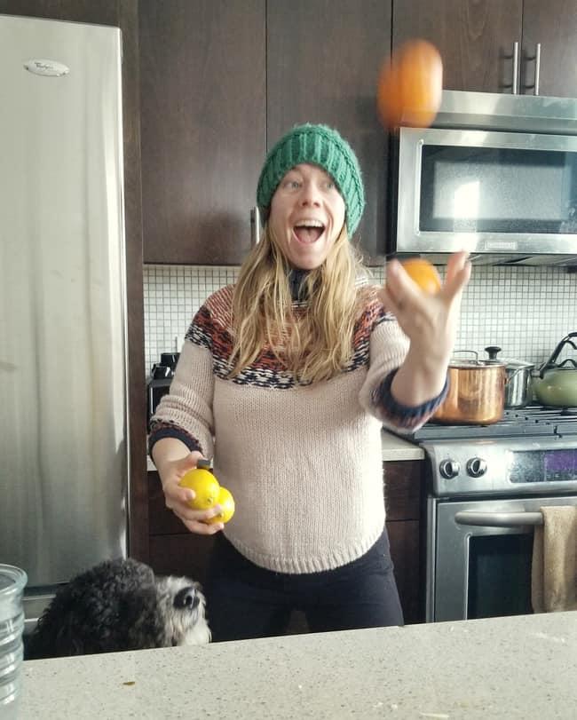 Juggling citrus groceries