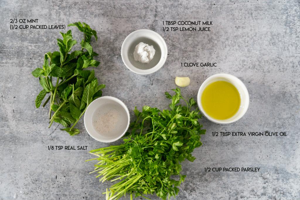 Mint Chutney Ingredients