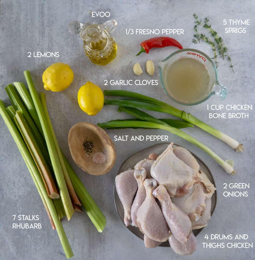Rhubarb Chicken Ingredients