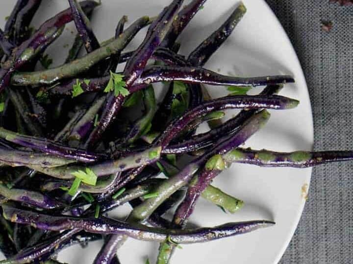 truffled purple hyacinth green beans