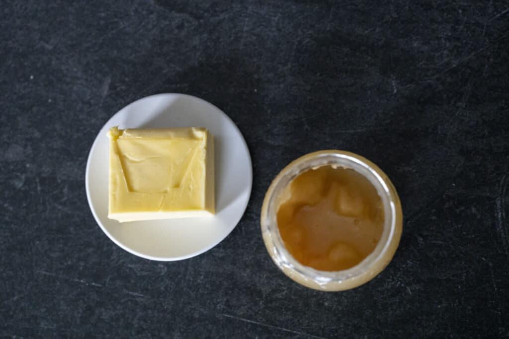 light honey and butter