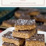 chocolate walnut oat bars